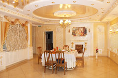 Graceful interior in restaurant Banquet hall in Chernihiv Royalty Free Stock Image