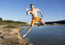 Graceful Jump Royalty Free Stock Images