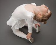 Graceful little ballerina Royalty Free Stock Photography