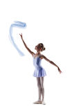 Graceful little girl dancing with cloth Royalty Free Stock Photo