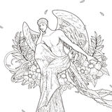 Graceful man coloring page Royalty Free Stock Images