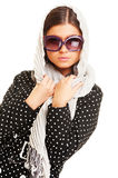 Graceful model in headscarf Royalty Free Stock Images