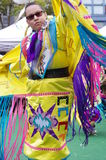 Graceful movements of a Pow-wow dancer Royalty Free Stock Photos