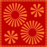 Graceful orange circle petals pattern Royalty Free Stock Photos