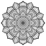 Graceful, Ornamental, Vector, Mandala On A White Background Royalty Free Stock Image