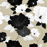 Graceful seamless floral pattern Stock Photo
