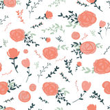 Graceful seamless floral pattern Royalty Free Stock Image