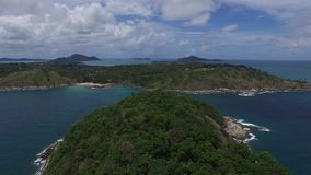 Graceful seaview, cloudy sky, from a copter. Brilliant perspective and relaxing holiday, from a helicopter stock video