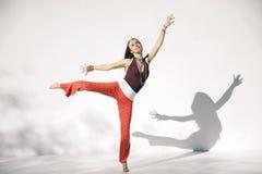 Shakti Yoga Woman White Background stock images