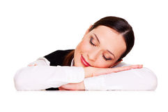Graceful sleeping student Stock Photo