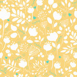 Graceful Spring Flowers. Vector Seamless Pattern Royalty Free Stock Photography