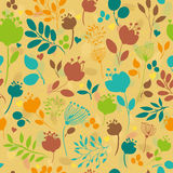 Graceful Summer Flowers. Vector Seamless Pattern Stock Images