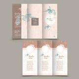 Graceful tri-fold brochure design Royalty Free Stock Photography