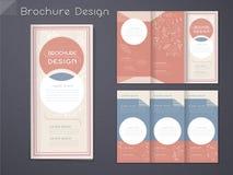 Graceful tri-fold brochure template design Stock Images