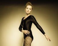 Graceful woman ballet dancer Stock Images