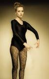 Graceful woman ballet dancer Stock Image