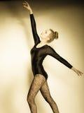Graceful woman ballet dancer Stock Photography