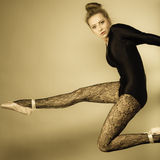 Graceful woman ballet dancer Stock Photos