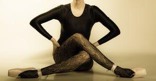 Graceful woman ballet dancer Royalty Free Stock Image