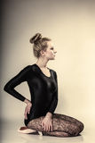 Graceful woman ballet dancer full length Stock Images