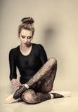 Graceful woman ballet dancer full length Stock Photography