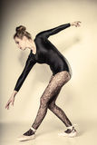 Graceful woman ballet dancer full length Royalty Free Stock Photography
