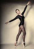 Graceful woman ballet dancer full length Royalty Free Stock Image