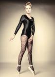 Graceful woman ballet dancer full length Royalty Free Stock Photo