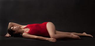 Graceful Woman Lying Down Royalty Free Stock Photo