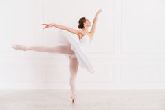 Graceful woman standing in ballet position Stock Photography