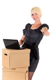 Graceful young businesswoman Royalty Free Stock Photo