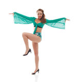 Graceful young girl posing in go-go costume Royalty Free Stock Photography
