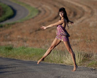 Gracefully dancer. Royalty Free Stock Photography