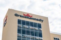 GraceKennedy, jeden wielcy zlepki w Karaiby obraz royalty free