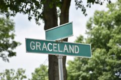 Graceland驱动,孟菲斯,TN 库存照片
