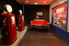 Graceland Automobile Museum. MEMPHIS, TENNESSEE, May 11, 2015 : Elvis Presley loved cars and the Elvis Presley Automobile Museum displays some of his favorites Stock Photo