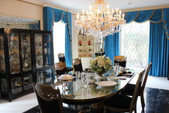 Graceland Elvis Presleys dining room Royalty Free Stock Images