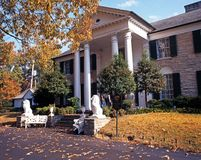 Graceland in the fall, Memphis. Front view of Graceland, the home of Elvis Presley, during the Autumn, Memphis, Tennessee, United States of America Stock Photos