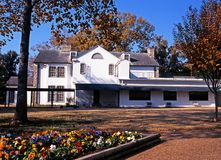 Graceland and garden, Memphis. Rear view of Graceland, the home of Elvis Presley, during the Autumn, Memphis, Tennessee, United States of America Stock Images
