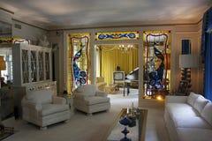 Graceland Mansion. Elvis Presley Graceland Mansion living room stock images