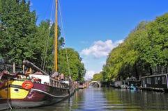 Gracht di Amsterdam Fotografia Stock