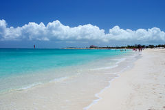 Graci zatoki plaża, Providenciales Zdjęcia Royalty Free