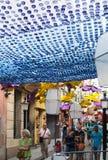 Gracia Festival in Barcelona Stockfotos