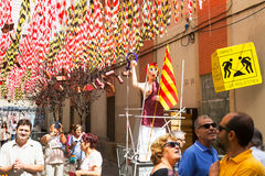 Gracia Festival  in Barcelona. Theme of  construction Royalty Free Stock Image
