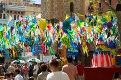 Free Gracia Festival  In Barcelona, Catalonia Stock Photo - 65355260