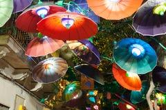 Gracia Festival in night in Barcelona Stock Photo