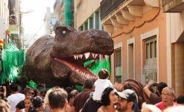 Gracia Street Festival in Barcelona Stockfoto