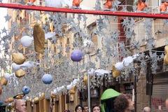 Gracia Street Festival en Barcelona, Cataluña Fotografía de archivo libre de regalías