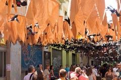 Gracia Street Festival en Barcelona, España Imágenes de archivo libres de regalías