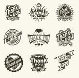 Gracias badge Imágenes de archivo libres de regalías